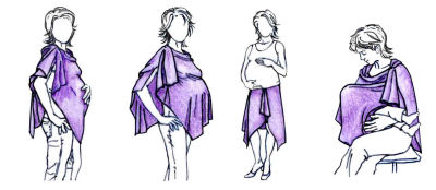 bamboobies-Butterfly Wrap Nursing Cover
